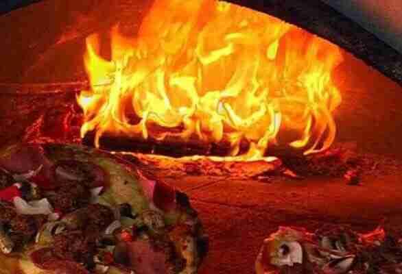 Wooden fired Pizza Ofen German Restaurant Cafe Europa